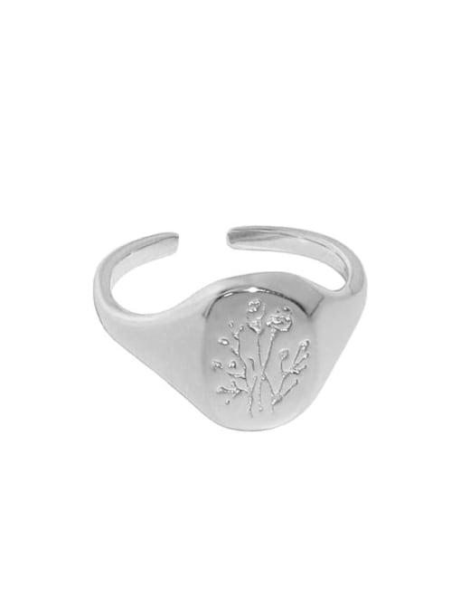 Platinum [14 adjustable] 925 Sterling Silver Geometric Minimalist Ring
